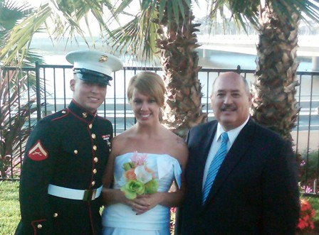 military wedding in oceanside