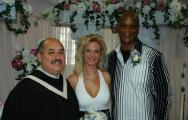 Celebrity wedding Darryl Strawberry with Rev Ron