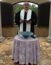 Rev Ron Baptism in Clergy Robe
